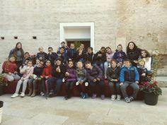Los peques del Colegio Eres Altes invaden el Castillo de #ribaroja. #visitaguiada  #turismo #patrimonio