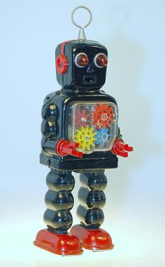 Vintage Toy Tin Wind-Up Robot vintage toys Metal Robot, Metal Toys, Tin Toys, Weird Toys, Cool Toys, Vintage Robots, Vintage Toys, Robot Monster, 1960s Toys