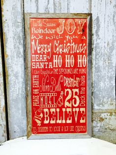Barn Signs Decor Christmas Holiday Sign On Metal Wood Or Canvas Personalize With