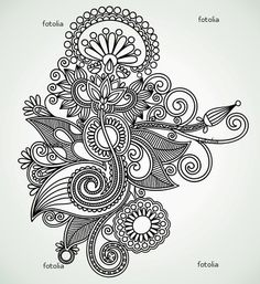 Apparently this is Ukrainian line art. And I thought it's a mehndi design.