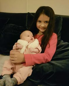 Sinterklaas 2016 Jaeleigh and baby niece Emma