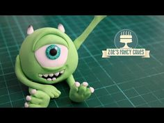 Monsters Inc Mike Wazowski cake topper - YouTube
