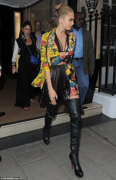 Looking leggy: Cara Delevingne looked bright and beautiful as she joined the cast of Suicide Squad at a special screening for the film in London on Thursday night