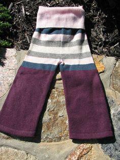 RePurposed Wool Longies / Pants  Stripy Longies by EverGreenBazaar, $19.00