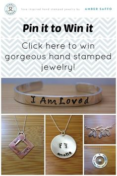 Win gorgeous jewelry from Simpli Stamped. Click here for easy entry. SimpliStamped.com