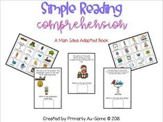This fun adapted book asks students to work on improving their reading comprehension. It's perfect for kindergarten/first grade beginning readers. If you have questions please don't hesitate to ask. This resource is property of Primarily Au-Some (c) 2018. This book is perfect for special educatio...