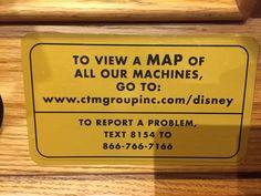 pressed pennies map at Disney