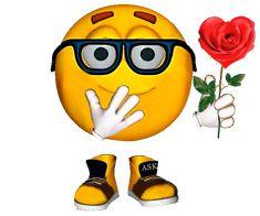 Animated Gif by Armanda V Smiley Emoticon, Animated Smiley Faces, Funny Emoji Faces, Animated Emoticons, Funny Emoticons, Animated Love Images, Images Gif, Animated Gif, Emoji Images