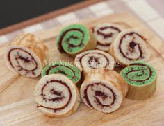 My Kitchen Snippets: No-baked Mini Swiss Roll with Red Bean Filling