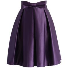 Chicwish Sweet Your Heart Pleated Skirt in Purple