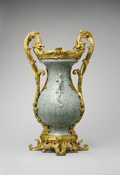 Mounted vase, European Sculpture and Decorative Arts Medium: Hard-paste porcelain; gilt-bronze mounts Gift of Mr. and Mrs. Charles Wrightsman, 1971 Metropolitan Museum of Art, New York, NY