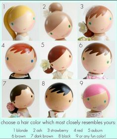 Hair color ideas peg dolls