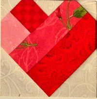 Simple Heart Six Inch Size from Carol Doak's Website on Paper Piecing