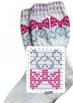 Siskorusettisukat Knitting Wool, Knit Mittens, Knitting Charts, Knitting Stitches, Knitting Socks, Baby Knitting, Knitting Patterns, Crochet Patterns, Crochet Shoes Pattern