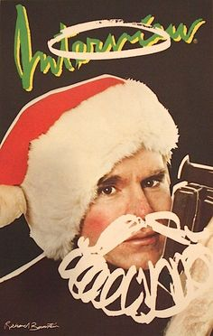 Interview Christmas Card (Signed) by Andy Warhol. Andy photographed by Berry Berenson.