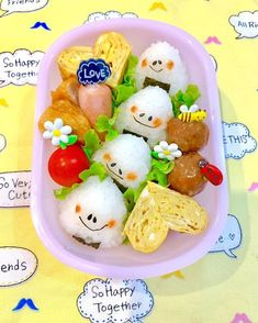 Cute Bento Boxes, Bento Box Lunch, Japanese Lunch Box, Japanese Food, Bento Kids, Kids Lunch For School, Bento Recipes, Kids Menu, Aesthetic Food