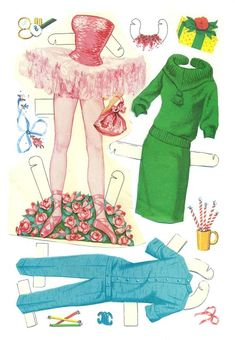 1962 Barbie and Ken paper doll clothes / picasaweb.google.com