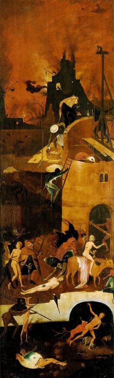 Hieronymus Bosch: Triptych: The Haywain - Right Panel: Hell                                                                                                                                                      More