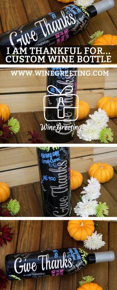Custom Wine Bottles – Giving Thanks
