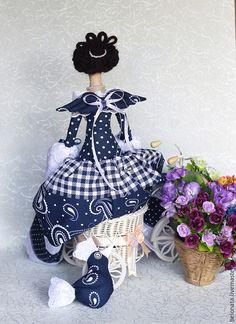 Куклы Тильды ручной работы. Фея с маленькой Синей Птичкой. Белоенко Наталия Борисовна BELONATA. Ярмарка Мастеров. Кукла Тильда