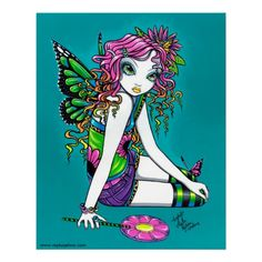 Items similar to Crystal Rainbow Candy Lollipop Fairy Signed Art Print by Myka Jelina on Etsy Rainbow Fairies, Angel Drawing, Rainbow Candy, Fairy Pictures, Pretty Pictures, Butterfly Fairy, Gothic Fairy, Love Fairy, Fairy Art