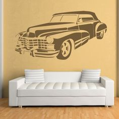 Cadillac Car Wall Art Sticker Wall Decal - Transport