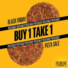 Yellow Cab Pizza's Black Friday Pizza Sale and Potluck Holidays Food Graphic Design, Food Menu Design, Food Poster Design, Design Posters, Print Design, Restaurant Advertising, Logo Restaurant, Food Advertising, Backgrounds