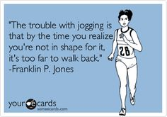 "I definitely have this problem at times.  Except that instead of ""not in shape"" it's sometimes ""too hungry"", or ""started by running angry and didn't pace yourself"".  Oops."