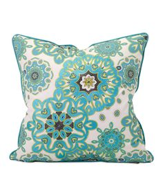 Another great find on #zulily! Teal Blossom Throw Pillow by IMAX #zulilyfinds