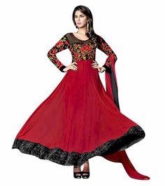 Naksh - Deep Love Red Designer Anarkali Suit