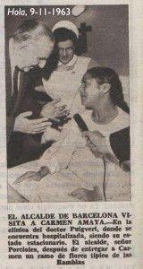 Porcioles visita a Carmen Amaya en noviembre de 1963
