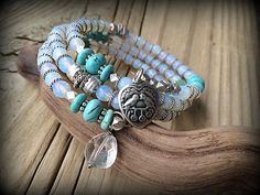 Snow and Spring Lovebirds  Opal Turquoise and by barbmallonjewelry, $50.00