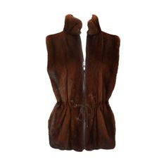 View this item and discover similar for sale at - Sprung Freres Brown Mink Vest w/ Collar & Waist w/ Cinching Tie - This beautiful vest is in excellent condition. It features gorgeous brown mink fur, Mink Vest, Mink Fur, Fur Vests, Vintage Coat, Furs, Fur Coat, Rompers, Coats, Fantasy