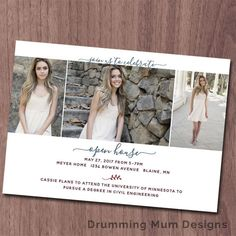 Elegant Modern High School Graduation Announcement | College Graduation Invitation Announcement | Graduation Announcement | Ceremony Invitation Open House Announcement | Printable Photo Card Graduation announcement | Simple Unique *** This listing is for a non-editable DIGITAL FILE, no print will be sent.***  I customize, you print! Its easy!  YOU WILL RECEIVE:  -2 JPG files: one for the front side and one for the back side. You can use these to get your cards printed wherever you like  The…