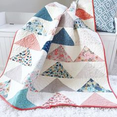 PATTERN (PDF): Minimal Triangles Quilt Pattern – Simple Simon and Company