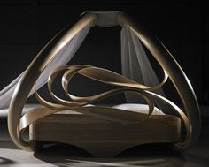 Sensual and Curvaceous Enignum Canopy Bed by Joseph Walsh | Canopy ...