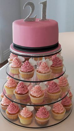21st cake/cupcakes