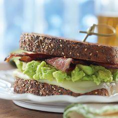 Bacon, Avocado and Mozzarella Sandwich with Tre Stelle® Mozzarella Cheese Slices Cheese Recipes, Cooking Recipes, Bacon Avocado, Lard, Brunch Recipes, Picnic, Sandwiches, Lunch, Baking