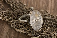 Patina Clock Ring by www.cgilly.com