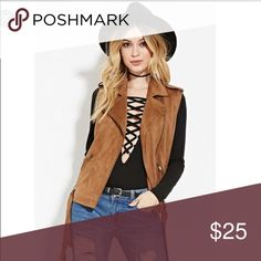 Forever 21 brown Faux suede Moto vest, worn once This light weight vest is perfect for fall. please note that I may or may not have the belt that goes along with this (I have to search for it). Other than that it is in perfect condition. Says Size small, but runs a little big in my opinion! 😊 Urban Outfitters Jackets & Coats