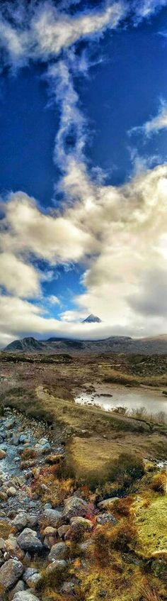 Sligachan (Scottish Gaelic: Sligeachan) is a small settlement on Skye, Scotland. It is close to the Cuillin mountains and provides a good viewpoint for seeing the Black Cuillin mountains.