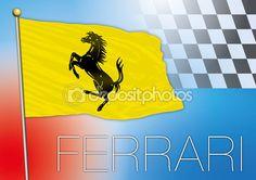 file vettoriale, bandiera ferrari, illustrazione — Vettoriali Stock © frizio #79829458