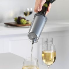 @Kensie Smith- This one is for you. An instant #wine chiller.
