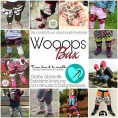"""Freebook - """"WooopsBux"""" - From Heart to Needle - cooles Schnittmuster für eine Hose mit Stulpen. Bebilderte Schritt-für-Schritt-Anleitung, sowie Schnittmuster"""