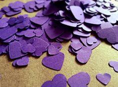 500 Cadbury Purple Mini Heart Table Confetti / by InsideMyNest