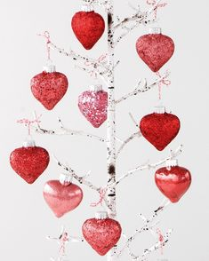 Add a little sparkle to your Valentine's Day with these festive glittering heart ornaments created by our talented crafts department. Valentines Day Party, Valentines Day Decorations, Valentine Day Crafts, Happy Valentines Day, Glitter Decorations, Valentine Ideas, Valentines Recipes, Glitter Ornaments, Funny Valentine