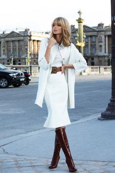 Style Inspiration: Autumn Outerwear All white looks so good! : Style Inspiration: Autumn Outerwear All white looks so good! Estilo Fashion, Fashion Moda, Look Fashion, Womens Fashion, Fashion Trends, Net Fashion, Elegance Fashion, Luxury Fashion, Fashion Design
