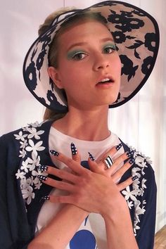 Gingham nails by Deborah Lippmann at @kate spade new york