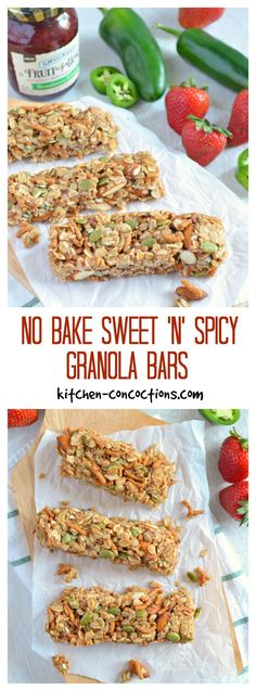 No Bake Sweet 'n' Spicy Granola Bar Recipe - Summertime is a busy time of year and everyone is on the go! Stay fueled with these better for you No Bake Sweet 'n' Spicy Granola Bars! {AD} #SpreadTheHeat #CollectiveBias