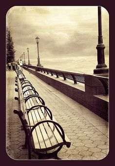 By Deborah Tynan - New York (walkway facing Ellis Island.)
